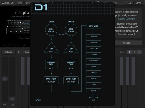 Screenshot #6 pour AudioKit Digital D1 Synth