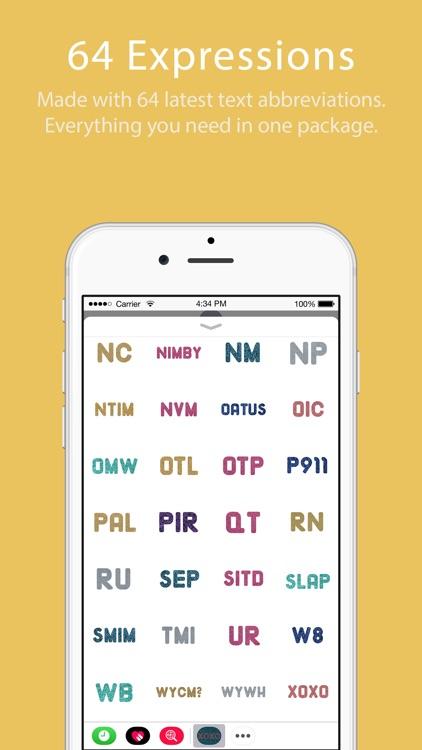 Glitter Text Message Stickers