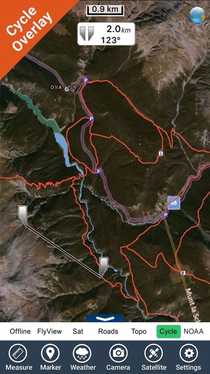 Schweizer National park - GPS Map Navigator screenshot-3