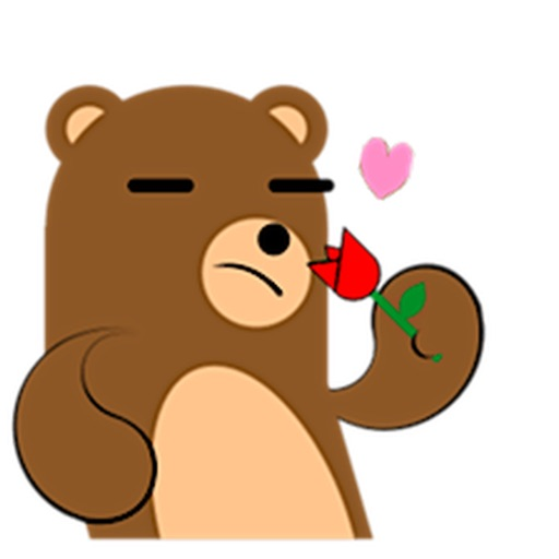 Cute Brown Bear Sticker