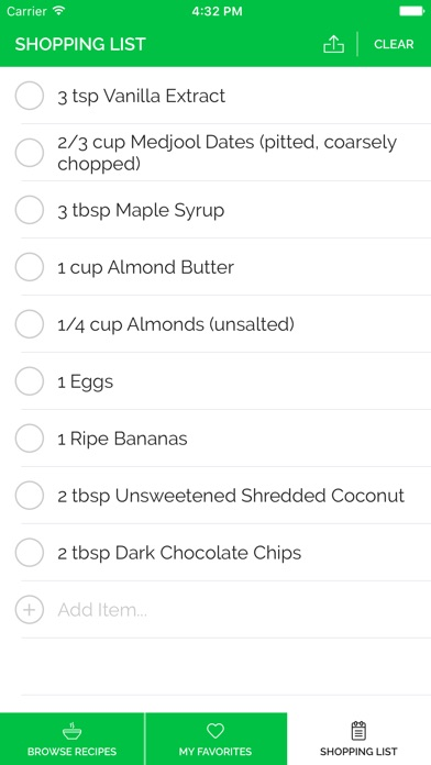 Paleo Recipe Pro Screenshots