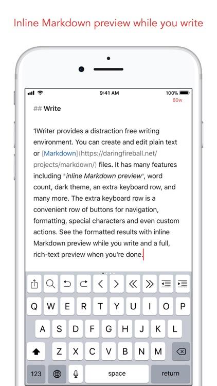 1Writer - Markdown Text Editor screenshot-0
