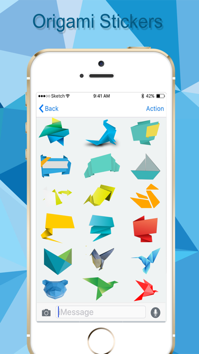 Origami Stickers Pack! screenshot one