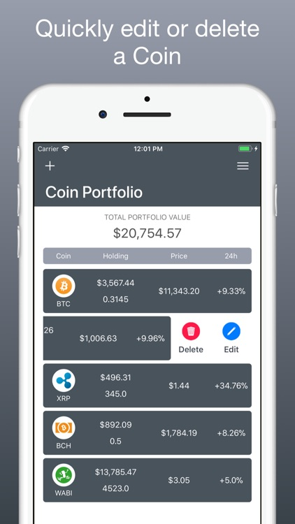 Coin Portfolio - Tracking screenshot-2