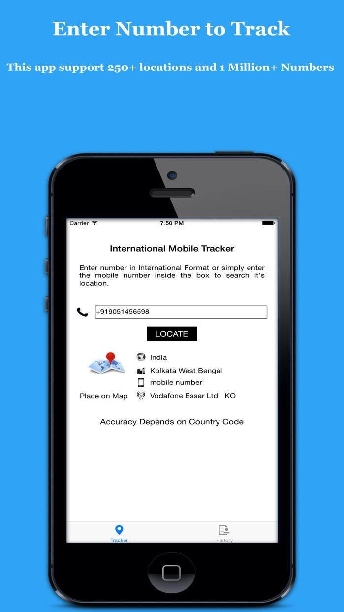 Search & Track Mobile Number Screenshot