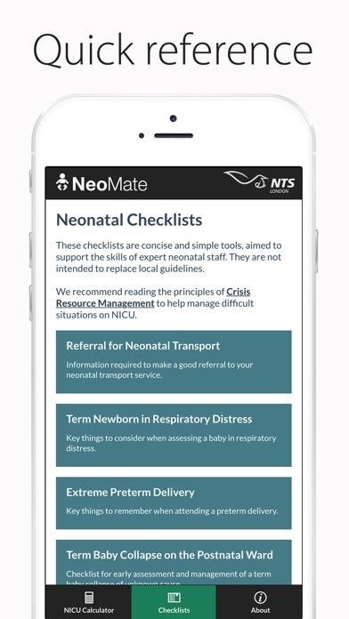 Screenshot for NeoMate - For NICU Staff in New Zealand App Store