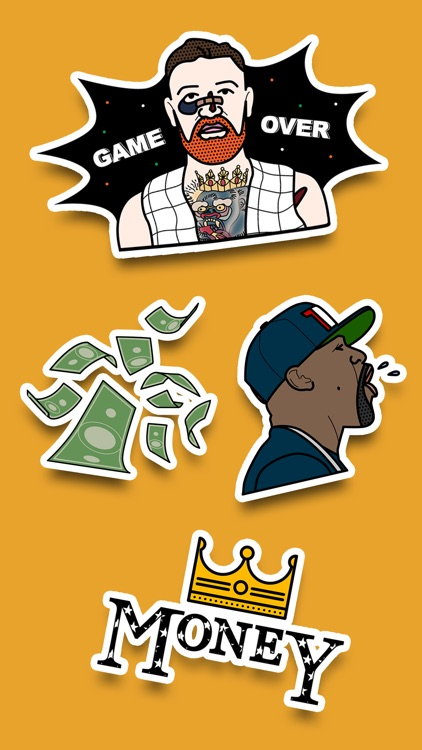 Money stickers fan pack