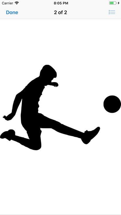 Silhouette Football Stickers screenshot-6