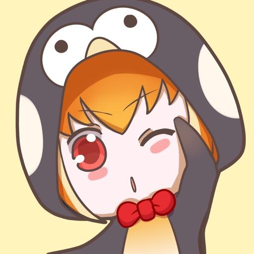 Buri the Penguin Girl stickers