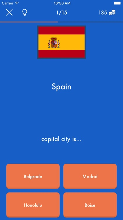 European Capitals & World Cities Geo Quiz Trivia screenshot-3