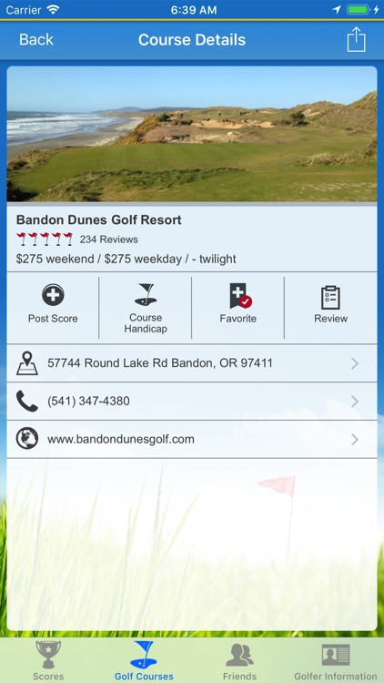 Diablo Golf Handicap Tracker screenshot-0