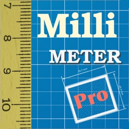 Millimeter - screen ruler on scale paper