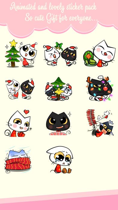 Xmas & New Year Animated Cat screenshot two