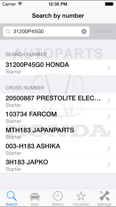 Screenshot for ホンダのための自動車部品  Honda in Japan App Store