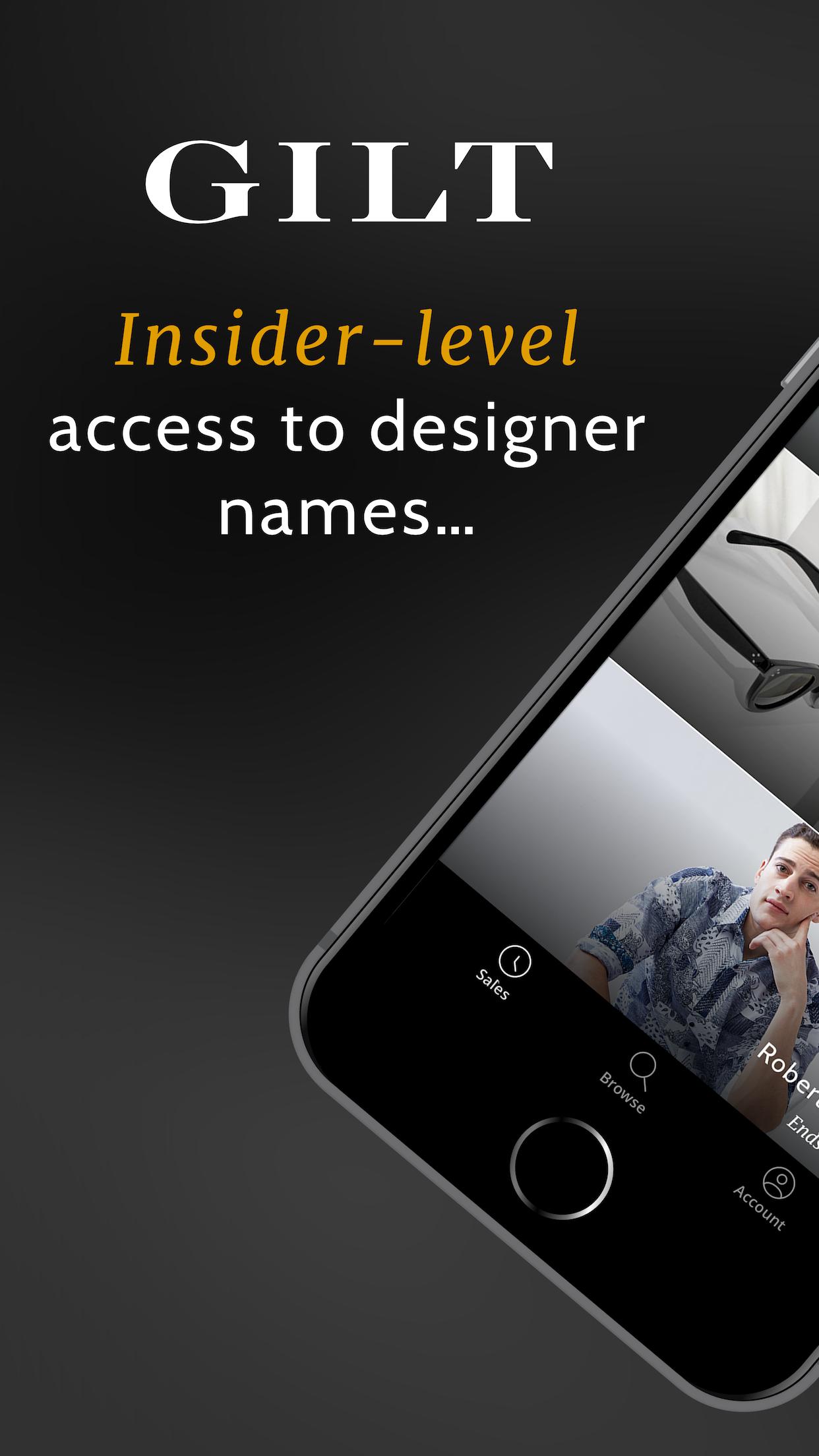 Gilt - Shop Designer Sales Screenshot