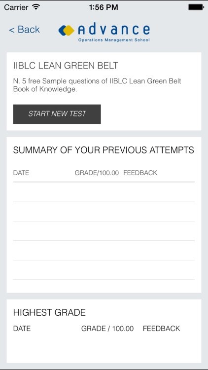 CGBL Lean Green Belt exam prep screenshot-1
