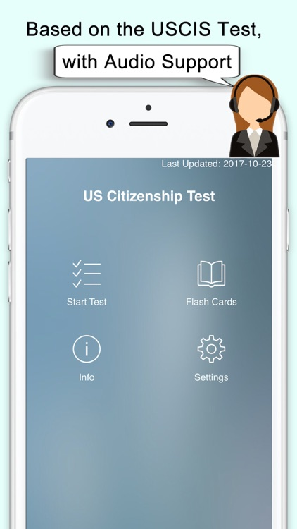 Citizenship Test with Audio screenshot-0