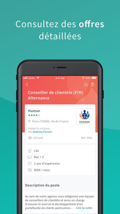 Viadeo - recherche d'emploi screenshot two
