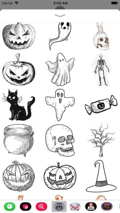 Halloween Sketch Elements screenshot 2