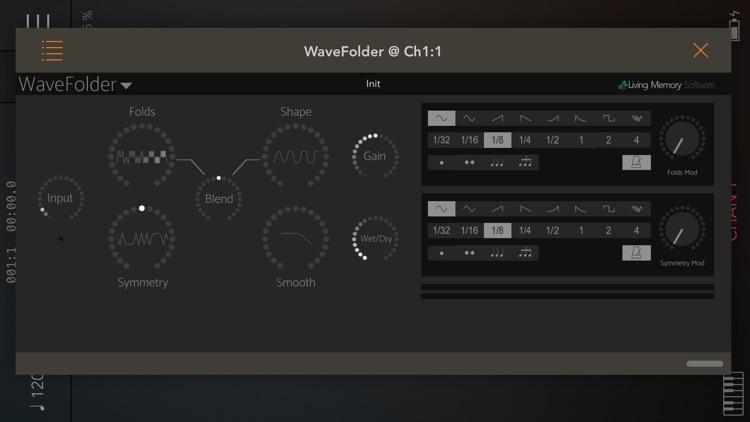 WaveFolder - Audio Unit screenshot-3