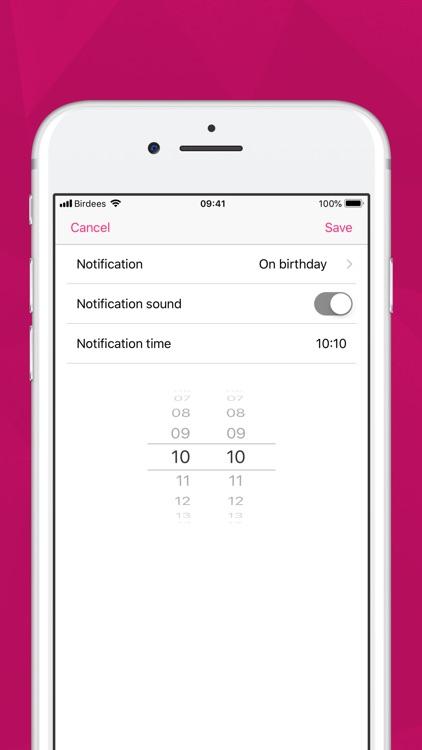 Birdees - Birthday Reminder screenshot-6