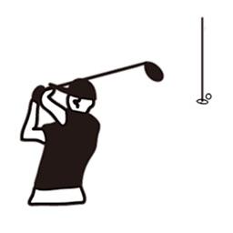 Golfer GolfMoji Sticker