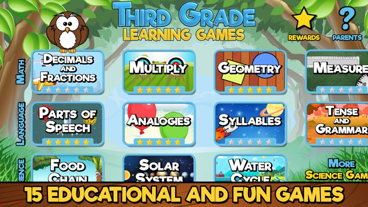 Third Grade Learning Games SE screenshot-0