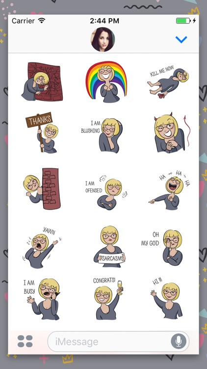 Avatar woman Animated Stickers