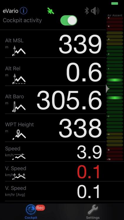 eVario - Variometer Paraglider screenshot-0
