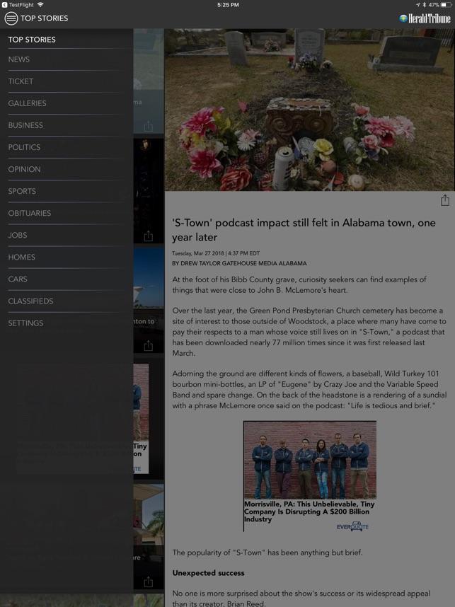Sarasota Herald Tribune on the App
