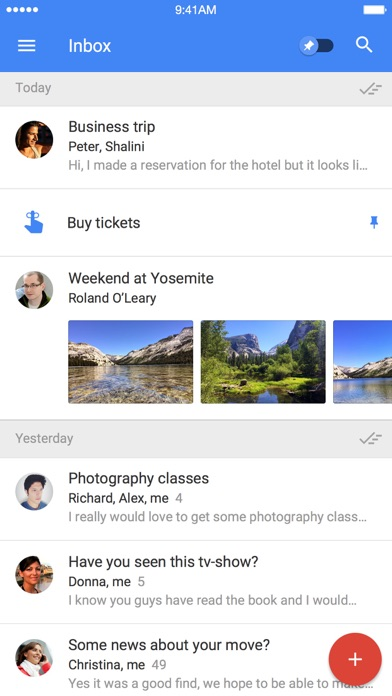 Inbox by Gmail – the inbox that works for you Screenshot 1