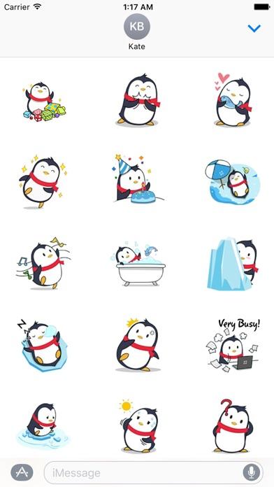 Animated Xmas Penguin Sticker screenshot 2