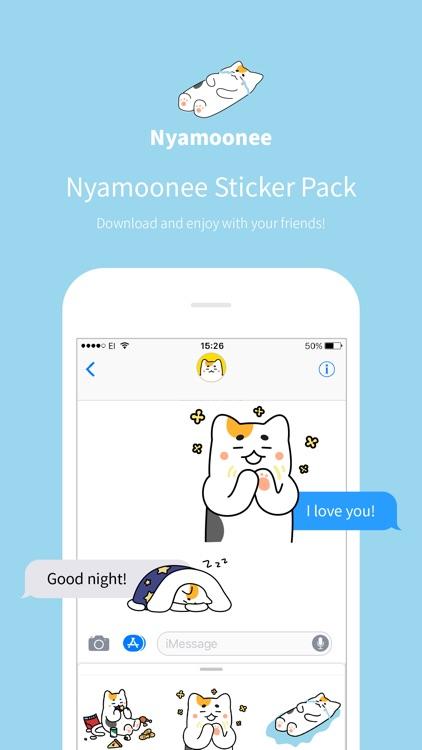Nyamoonee's daily life Sticker screenshot-0