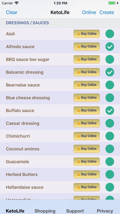 KetoLife Allowable Food List screenshot-3