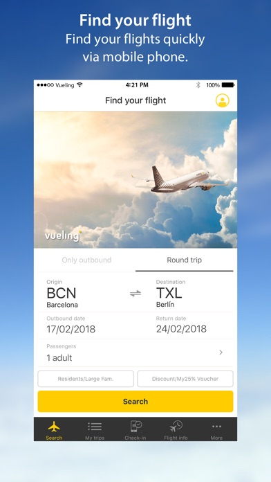 Vueling Airlines-Cheap Flights for Windows