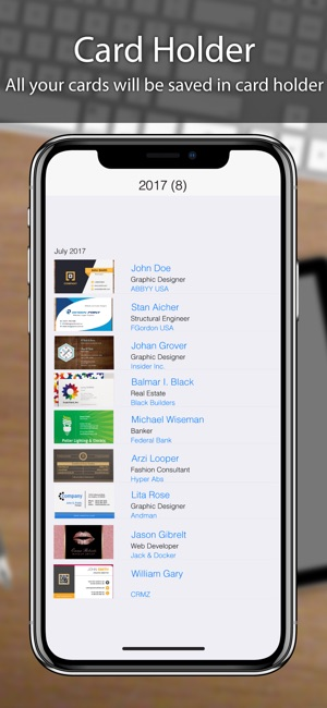 Business card scanner reader on the app store colourmoves