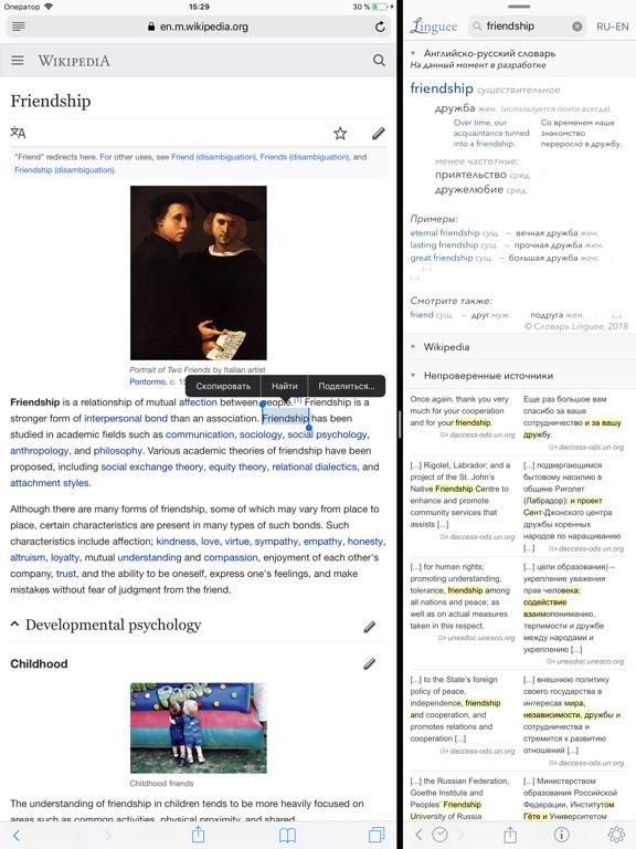 Словарь Linguee Скриншоты10