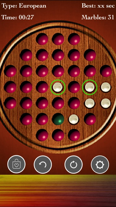 Brainvita Peg Solitaire screenshot 1