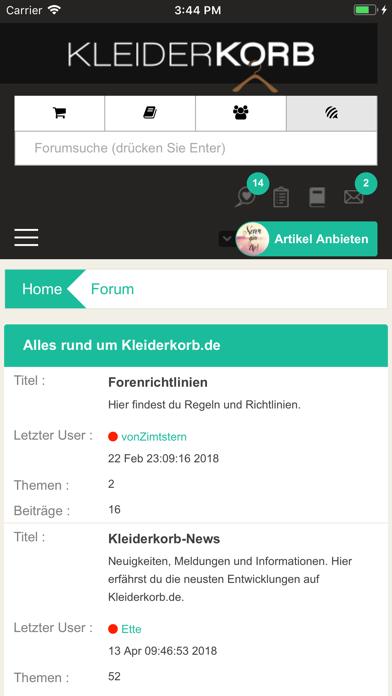 点击获取Kleiderkorb.de