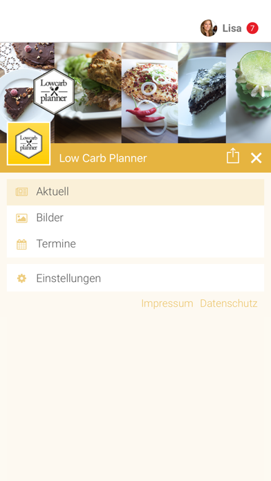 Low Carb Planner screenshot two