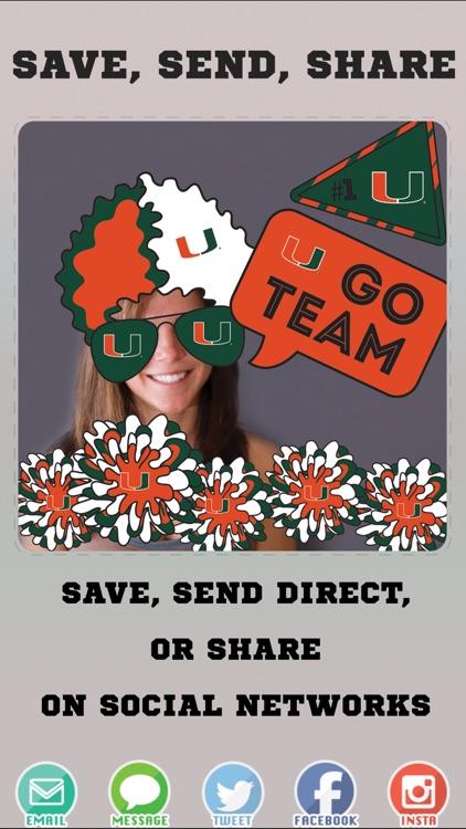 Miami Hurricanes PLUS Selfie Stickers screenshot-3