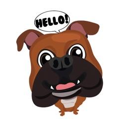 French Bulldog Emoji & Sticker