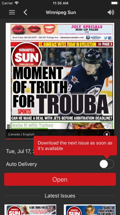 Winnipeg Sun ePaper screenshot-1