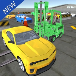 Heavy Forklift Car-go and Parking Simulator