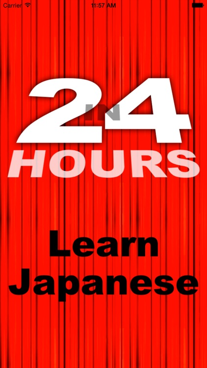 In 24 Hours Learn Japanese