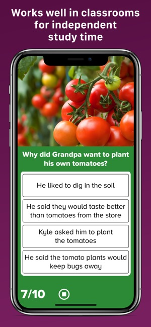 5th Grade Reading Screenshot