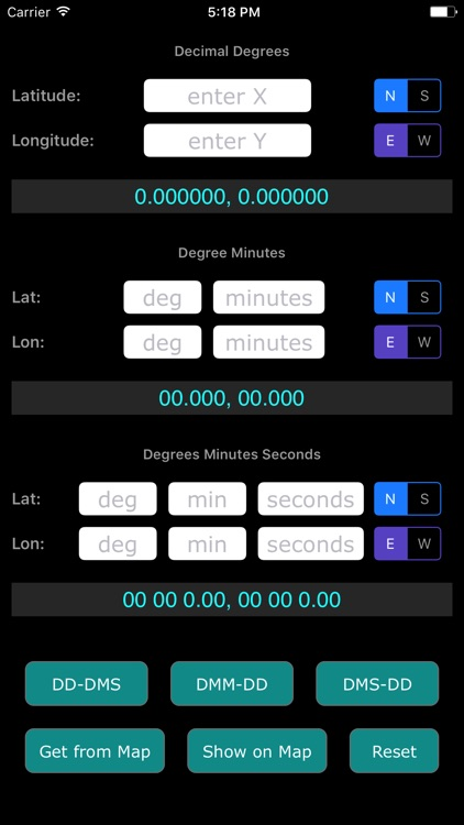 Co-ordinate Converter (Latitude & Longitude) screenshot-2