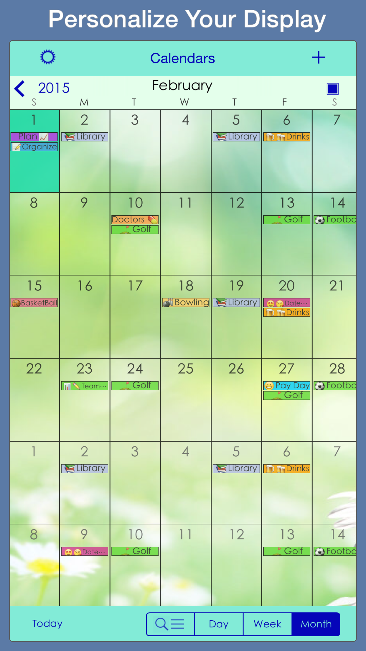 PocketLife Calendar Screenshot