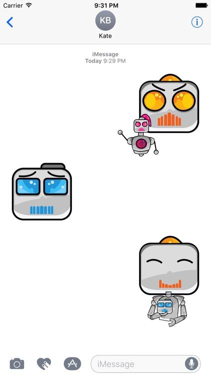Robot Family Stickers screenshot-3