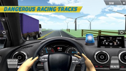 Crazy Driver Police Racing screenshot one
